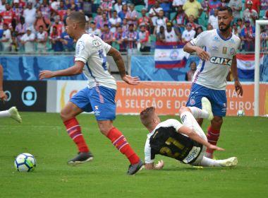 No apagar das luzes, Bahia vence o Santos e conquista seu 1° triunfo no Brasileirão