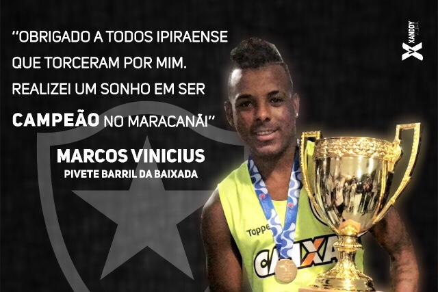 Natural de Ipirá, Marcos Vinícios é campeão carioca de 2018 pelo Botafogo no Maracanã lotado