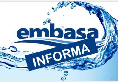 Embasa emite comunicado à população de Ipirá sobre falta de abastecimento de água