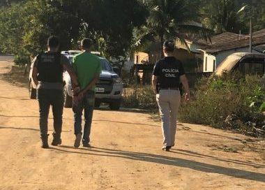 Jucuruçu: Homem é preso acusado de abusar de filha de 11 anos; mãe denunciou caso