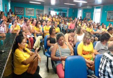 Trabalhadores em Educação ameaçam greve por tempo indeterminado, caso o prefeito não devolva 1.81% retirado do salário com retroativo
