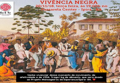 Movimento Biodanza promove ação solidária em Ipirá, no dia da consciência negra