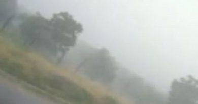 Temporal tem chuva, trovões e até granizo em Livramento; veja vídeo